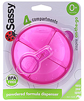 Sassy - Pink On the Go Formula Dispenser