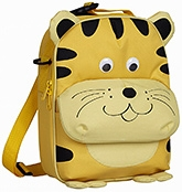 Tiger Lunch Bag 2 years +, 21 X 7.5 X 28 cm,  Bags with colorful ani...