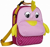 Chicken Lunch Bag 2 years +, 21 X 7.5 X 28 cm,  Bags with colorful ani...