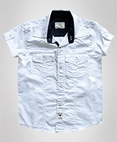 Super Young - Half Sleeves Poplin Shirt