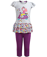 Cap Sleeves Top With Leggings Set 2 - 3 Years, Cute and comfortable 100% cotton top wi...