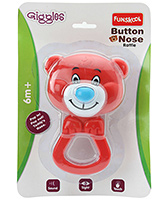 Funskool - Giggles Button Nose Rattle Red And Blue - 6 Months+