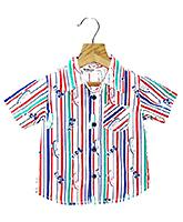 Buy Beebay - Half Sleeves Striped Shirt