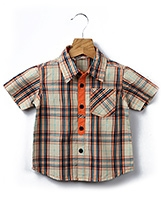 Buy Beebay - Half Sleeves Checked Shirt