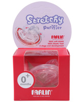 Farlin - Pink Stretchy Pacifier