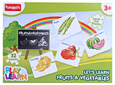 Funskool - Set Of 32 Fruits And Vegetables Puzzles - 3 Years+
