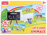 Funskool - Set Of 16 Animal Puzzles - 3 Years+
