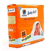 Wipro Baby Soft Cloth Feel Diapers XL - 48 Pieces