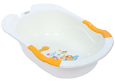 Fab N Funky Baby Bath Tub - White N Orange