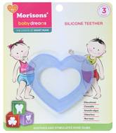 Buy Morisons Baby Dreams - Heart Shaped Silicone Teether Blue