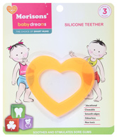 Buy Morisons Baby Dreams - Heart Shaped Silicone Teether Yellow