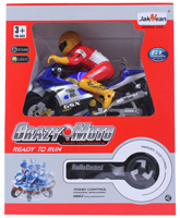 Fab N Funky - Jakmean Remote Control Light Sound Bike With Racer