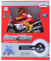 Fab N Funky - Jakmean Remote Control Light And Sound Bike With Racer