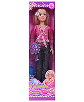 Beautiful Doll In Lacy Pink Top Black Pant 3 Years+, 41 Cm, Lovable, Playful Doll With 2 Butter...