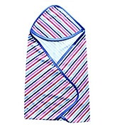 Buy Wow Mom - Interlock Baby Wrap With Hood Strips Print