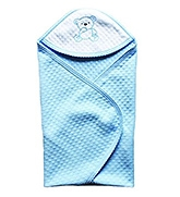 Buy Wow Mom - Jacquard Solid Baby Wrap Blue