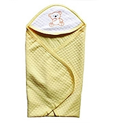 Buy Wow Mom - Jacquard Solid Baby Wrap Yellow