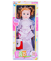 Musical Baby Doll With Accessories Purple 3 Years+, 42 cm, Beautiful baby doll in a wonderful ...