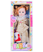 Musical Baby Doll With Accessories Brown 3 Years+, 42 cm, Beautiful baby doll in a wonderful ...