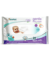 Himalaya - Gentle Baby Wipes 24 Pieces, With herbs and Indian Lotus combination t...
