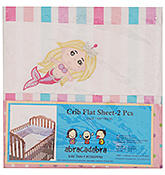 Set of 2 Mermaid Print Crib Flat Sheets Set of 2, 64 x 43 inch, Carefree solution for making...