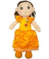 Buy Gemini - Della Candy Doll In Yellow Satin Flower Dress