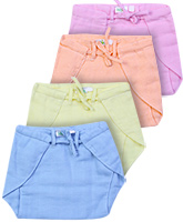 Babyhug Cloth Nappies With Tie Knot Large - Set Of 4