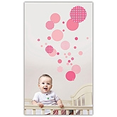 61c - Tickled Pink Dots Wall Decor