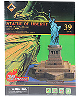 Fab N Funky - 3D Puzzle The Statue Of Liberty 39 Pieces - 3 Years+