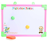 Tablet Printed Writing Board With Orange Duster Small 25.5x35.5 cm, Fun and attractive board to scrible on...