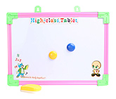 Tablet Printed Writing Board With Yellow Duster Small 25.5x35.5 cm, Fun and attractive board to scrible on...