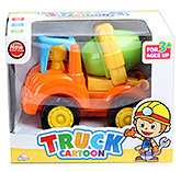 Green Mixer Orange Truck Cartoon Toy 3 Years+, Bright and colourful mixer truck