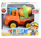 Yellow Mixer Orange Truck Cartoon Toy 3 Years+, Bright and colourful mixer truck