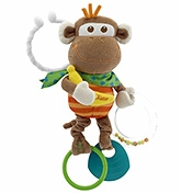 Multi Activity Vibrating Monkey 3 months +, All decked up to give your child an amus...