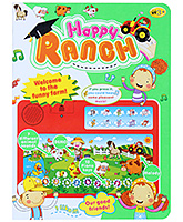 Red Happy Ranch Musical Toy Laptop 3 Years+, Feature 7 Different animal sounds, 12 Pian...