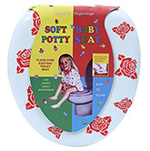 Fab N Funky - Soft Baby Potty Seat Rose Print White
