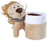 Brown Standing Lion Pattern Pencil Stand 7.5x9.5x13.5 cm, Organize your kid's desk with this ...