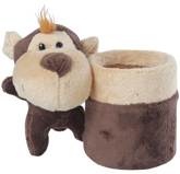 Brown Monkey Pattern Pencil Stand 7.5x9.5x13.5 cm, Organize your kid's desk with this ...