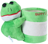 Fab N Funky - Green Frog Pattern Pencil Stand