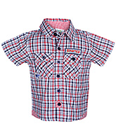 Baby Hug - Half Sleeves Checks Print Shirt