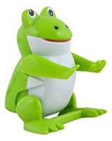 Green Frog Shape Wind Up Flippin Pet 2.5 Inches, A Cute Flippin Toy For Kids