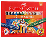 Buy Faber Castell 12 Wax Crayons