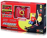 Bburago - Ferrari Race And Play Racing Launcher With Two Cars Red