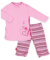 Kushles Baby - Heart Print Tunic and Tight Set