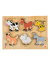Skillofun - Fun Useful Animals Wooden Tray - 3 Years+