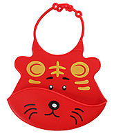 Mee Mee - Silicone Baby Bib Red