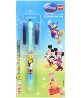 Cello - Disney Fountain Pen Blue With 2 Free Ink Cartridge - Blue