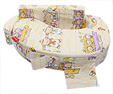 Sapphire - Ship Print Feeding Pillow Off White