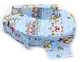 Sapphire - Ship Print Feeding Pillow Blue
