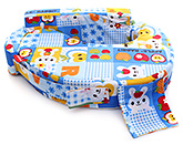Sapphire - Apple Print Feeding Pillow Blue